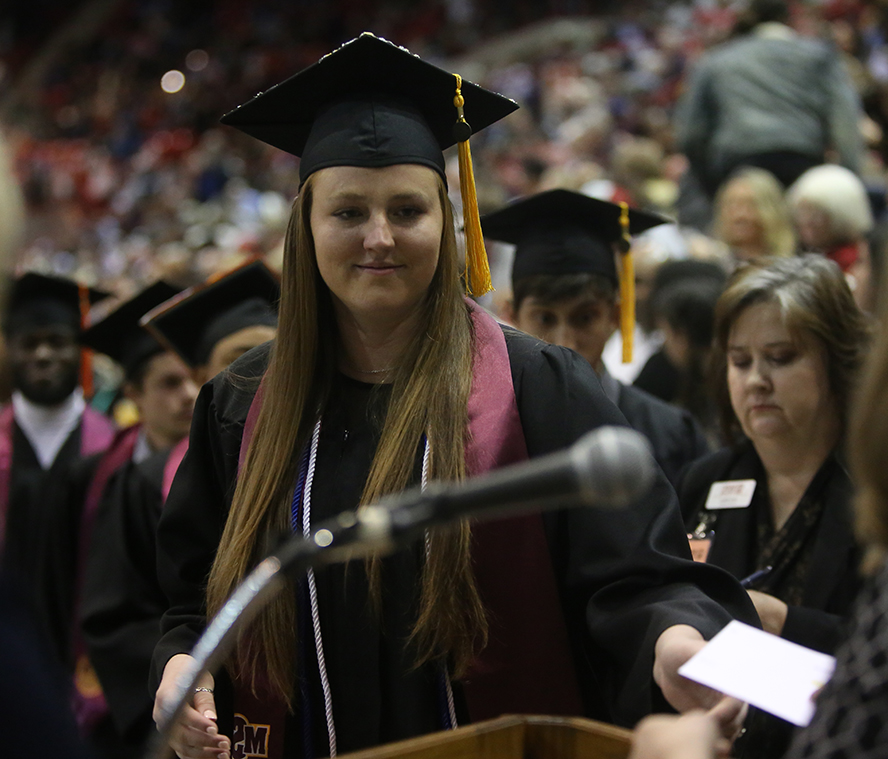 Sarah Stewart at Fall 2019 commencement