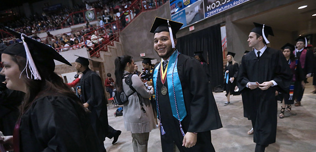 Fall 2019 commencement Tre Jones and others